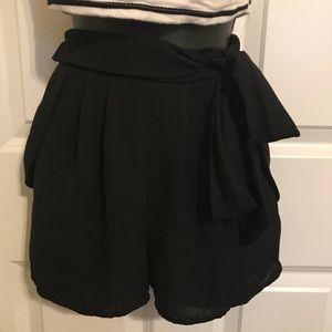 Side Tie Highwaisted Sheer Shorts